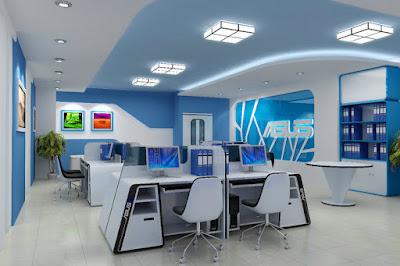 THiết kế nội thất văn phòng làm việc ASUS