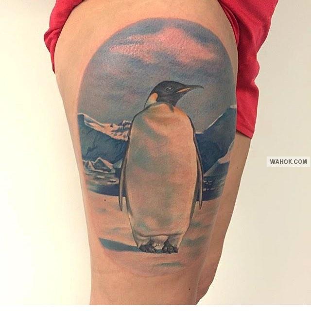 50+ Gambar Tato Pinguin 3D, Tribal, Hitam Putih Paling Keren Dan Lucu Koleksi Wahok
