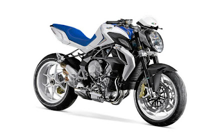 Coming soon 2016 MV Agusta Brutale 800 Hd Photos white & blue pose