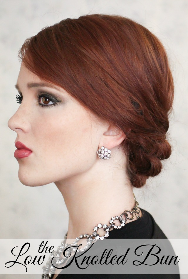 The Freckled Fox Holiday Hair Week The Low Knotted Bun