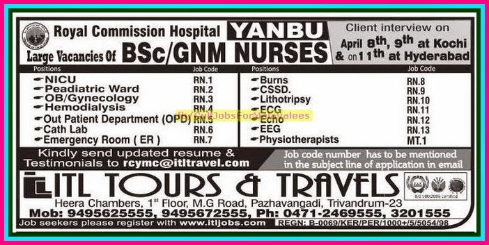 Royal Commission Hospital Yanbu Job Vacancies Gulf Jobs
