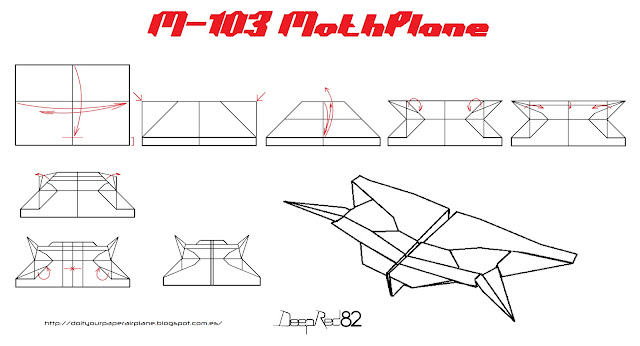 Infografía avión de papel M-103 MothPlane