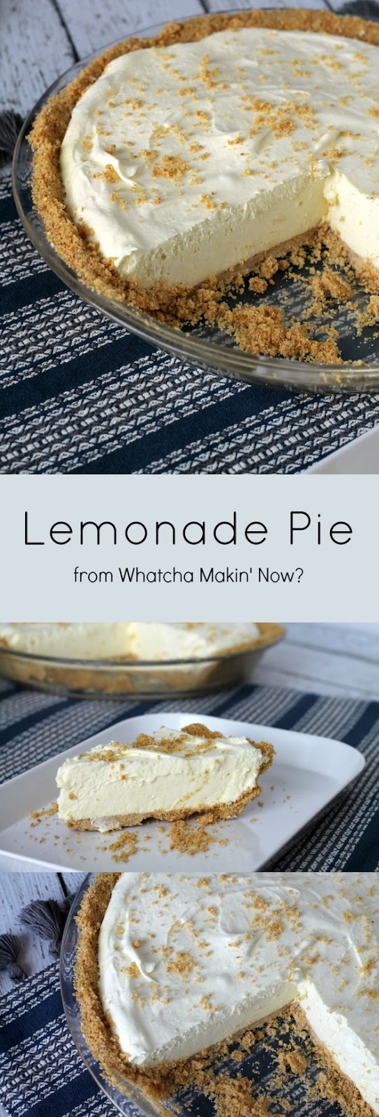 Lemonade Pie - the pie of the summer! It's so simple to make that you probably have all of the ingredients on hand.