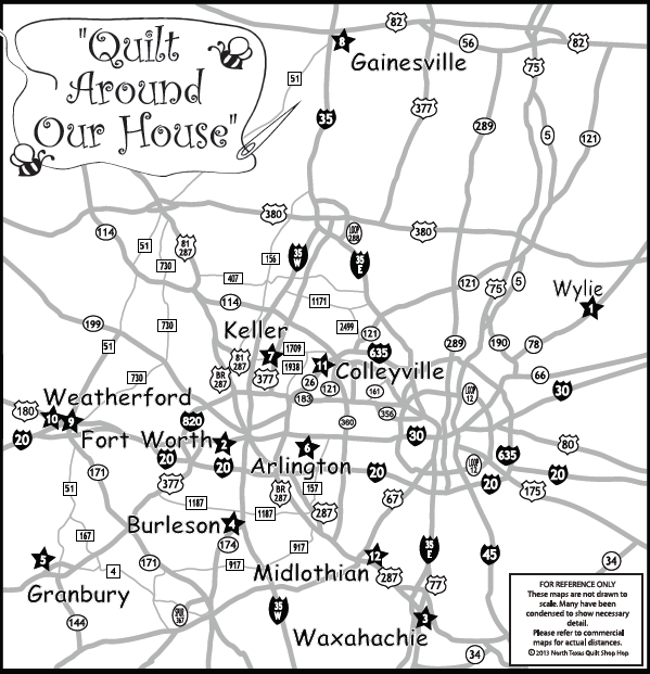Cabbage Corner: Join Us For The North Texas Quilt Shop Hop