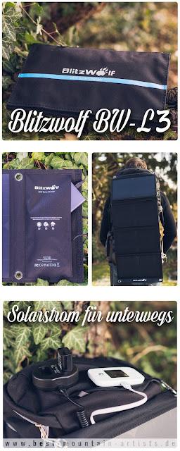 Blitzwolf BW-L3 28W 3.8A Outdoor Solarmodul  Solarladegerät  Mobile-Energie 08