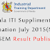 Kerala ITI 3rd Semester Supplementary Examination July 2015 Result Published