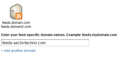 add more than one sub-domain for feeds in feedburner
