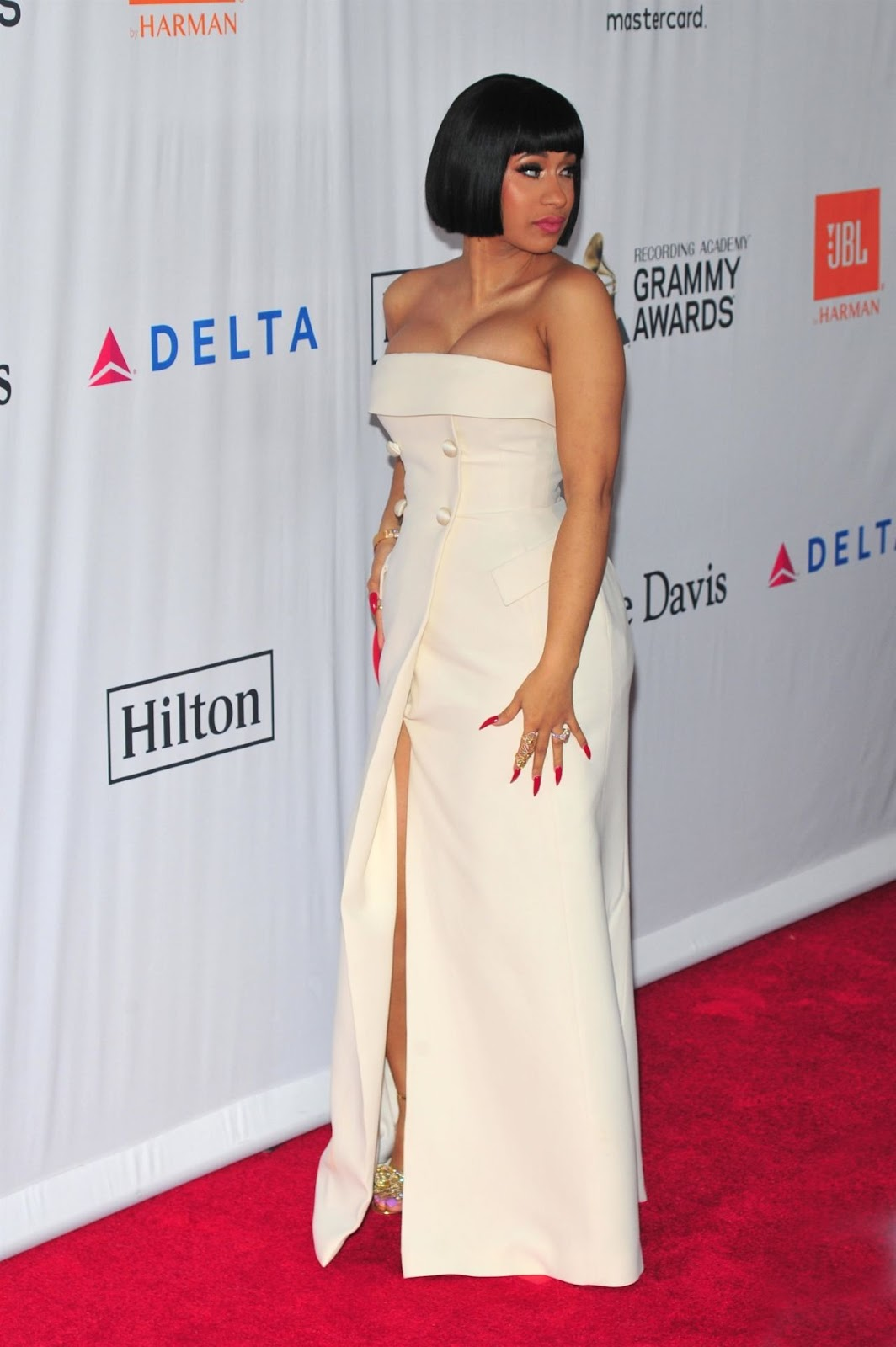 Cardi B – Clive Davis and Recording Academy Pre-Grammy Gala in NYC