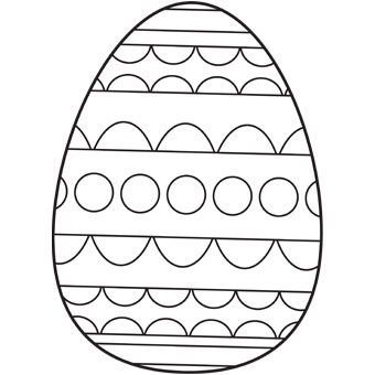 Easter Eggs Coloring Pages for Preschool