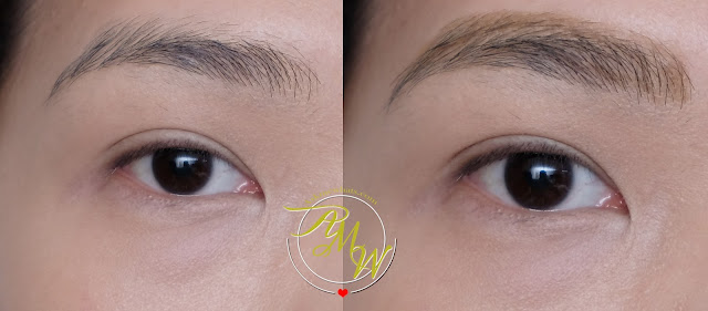 before and after photo of Cathy Doll Soft Brow Pencil & Spoon Brush Review in shade Hot Carame Brown.