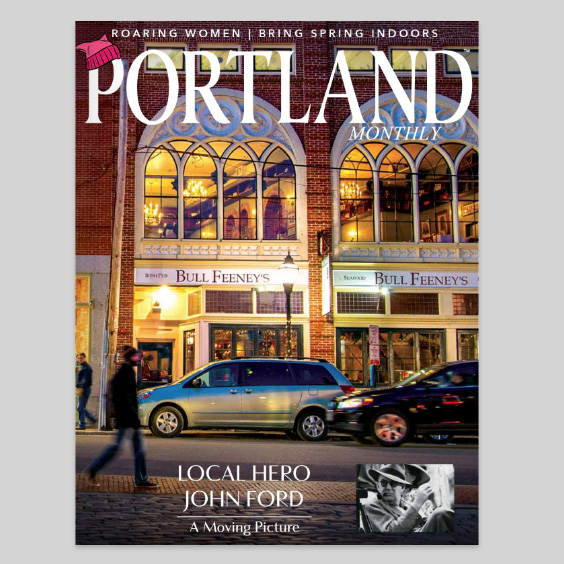 A Thursday look back at a December 2014 photo taken outside of Bull Feeney's, featured on the cover of the current Portland Magazine.