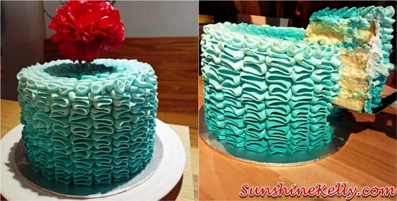 ruffles cake, lemon chantily cream, lemon zest, cake sense, cake deco diy, cake sense TTDI, cake design, cake diy, design your own cake, do it yourself cake