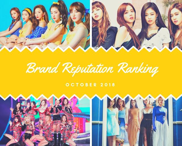 kpop girl group ranking october 2018