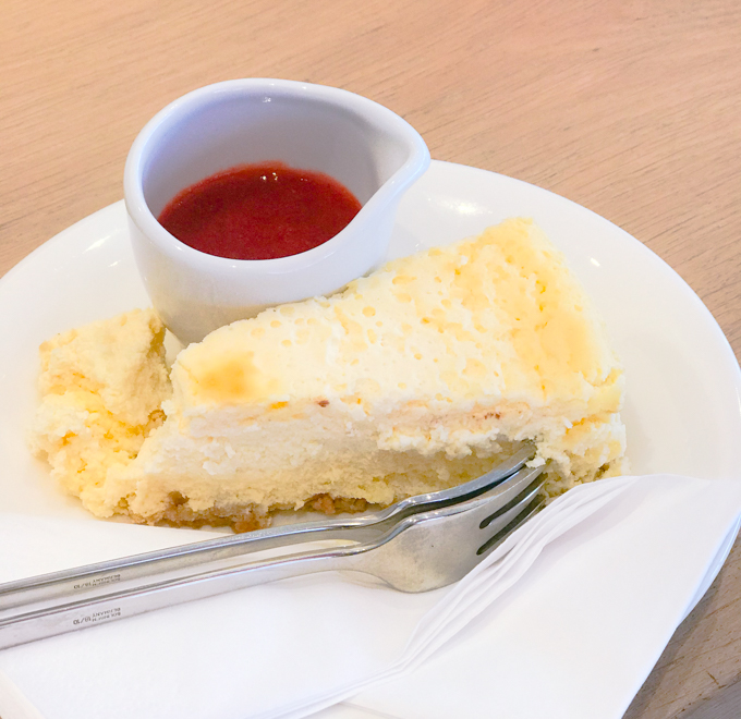 VAPIANO BARCELONA tarta de queso
