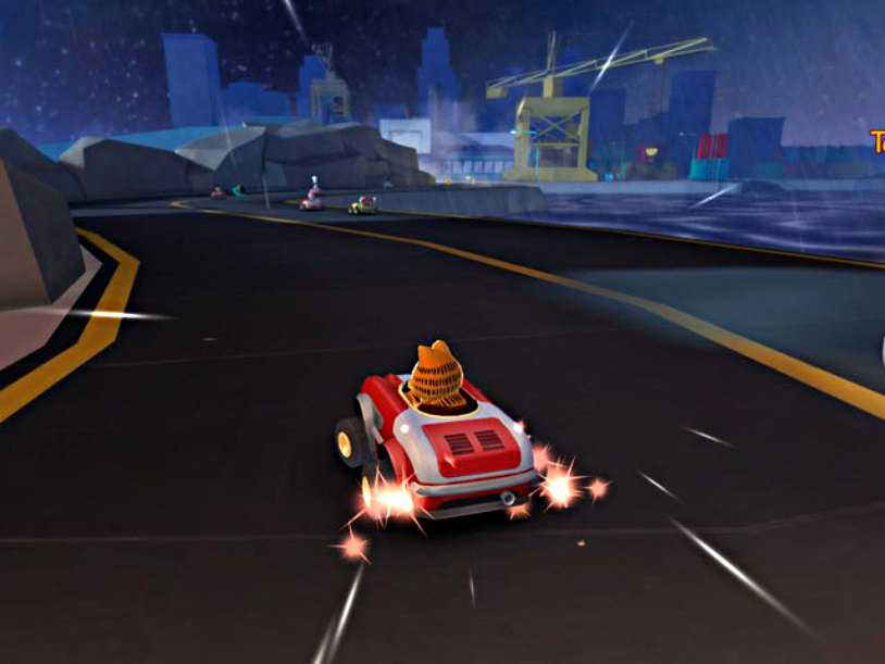 لعبة سباق سيارات كرتونية