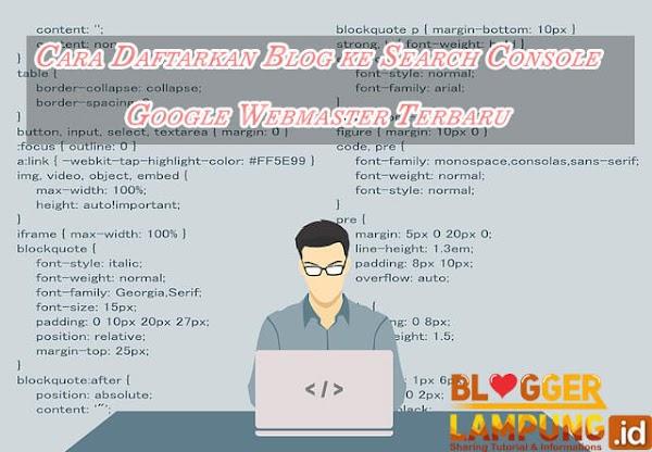 Cara Daftarkan Blog ke Search Console Google Webmaster Terbaru