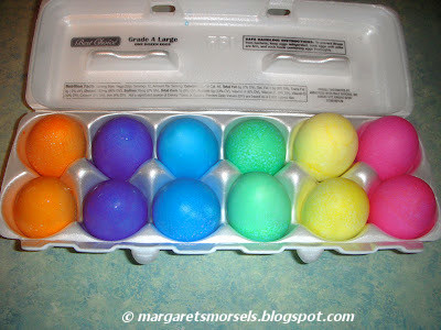 Margaret's Morsels | Gel Icing Color Easter Eggs