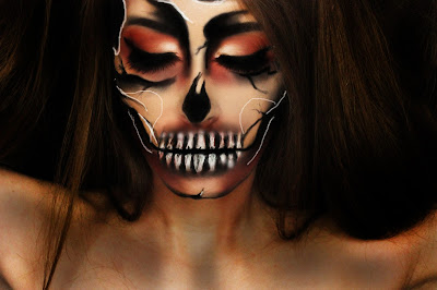 halloween makeup, illusion makeup, halloween, sfx makeup, skull makeup, halloqueen, doll makeup, cartoon makeup, demon makeup, floating head, pop art, pop art makeup, pintrest, nyx cosmetics, makeup look, creepy makeup, beauty bay