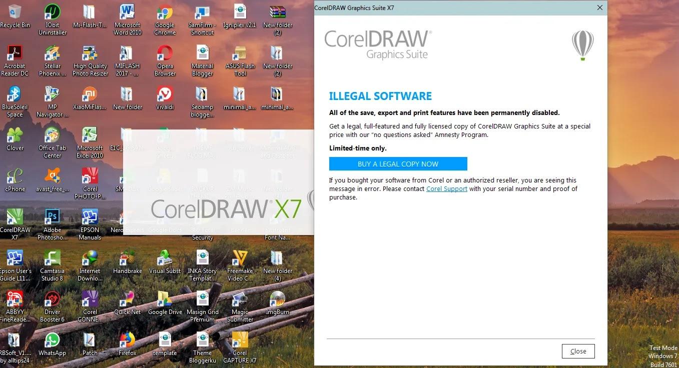 Tutorial Cara Mengatasi Block Illegal Software Corel Draw X7 Berbagi Tutorial