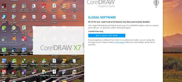 Tutorial Cara Mengatasi Block Illegal Software Corel Draw X7