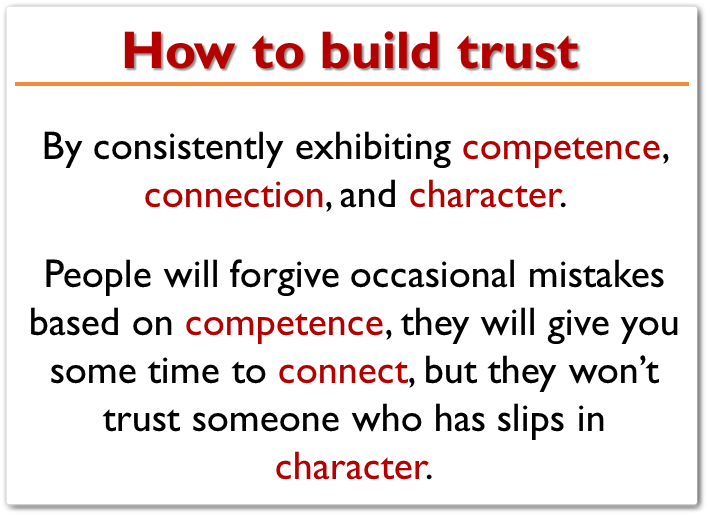 engender trust and respect in a relationship