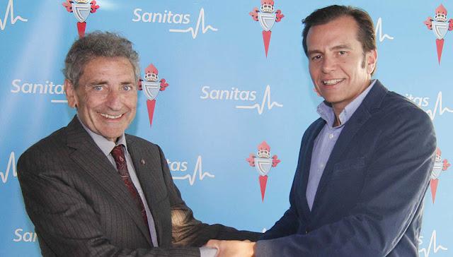 Sanitas y el Celta renuevan su alianza una temporada más