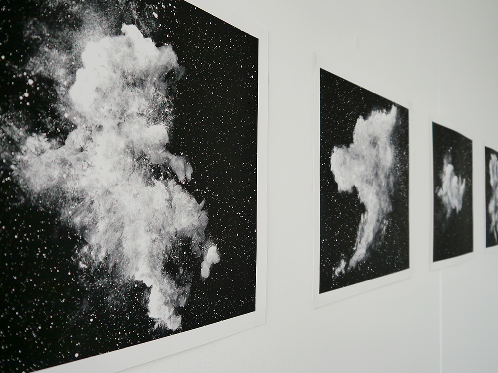 edinburgh college of art, masters degree show 2016, young artist, Patricia McCormack, black and white prints, space prints, interstellar clouds