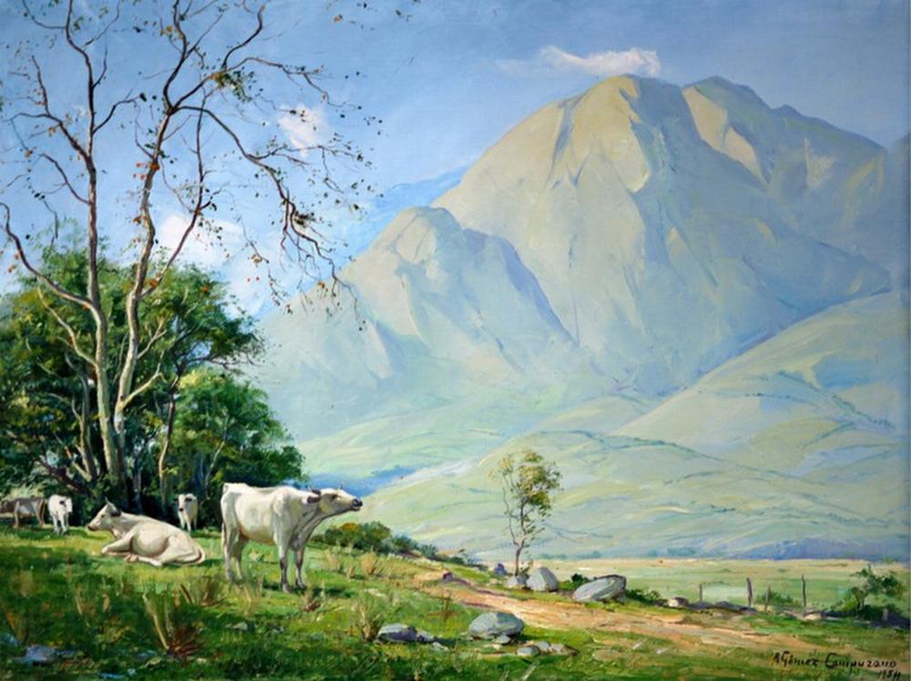 Cuadros modernos pinturas y dibujos pintor cuadros de - Cuadros de vacas ...