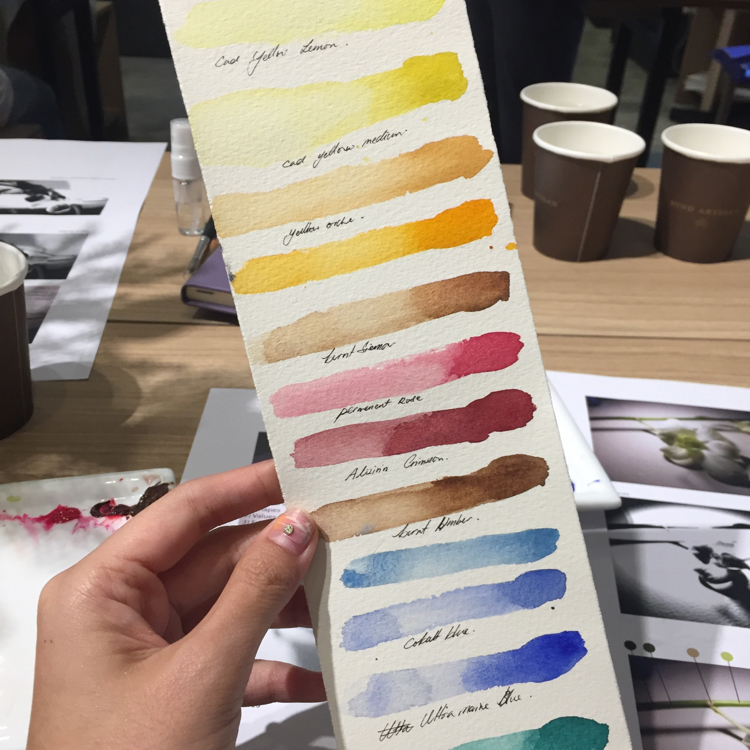 watercolor class singapore bynd artisan