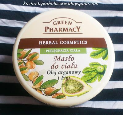 Green pharmacy. Masło do ciała. Olej arganowy i figi.