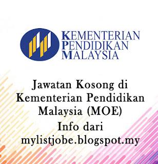 193 Kekesongan Jawatan Kosong Terkini di Kementerian Pendidikan Malaysia (MOE)