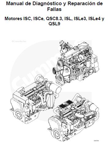 MOTORES CUMMINS : Manual de motor Cummins QSL9, ISC, ISCe