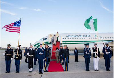 USA: President Buhari arrives Washington DC in front of Nuclear Security Summit with others world leaders