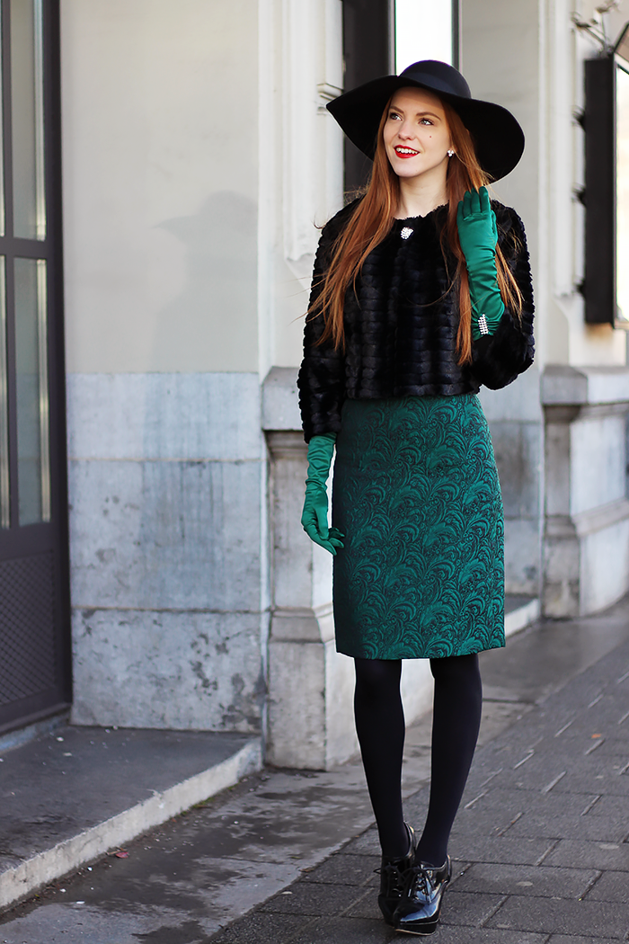 Gaaf Groen Outfit | Emerald 50s Chique @ Mbfwa | Retro Sonja