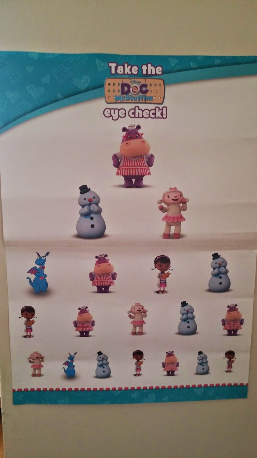 Doc McStuffins eye test