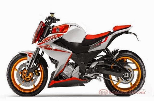 Modifikasi Motor Yamaha Vixion Jingga Lightning