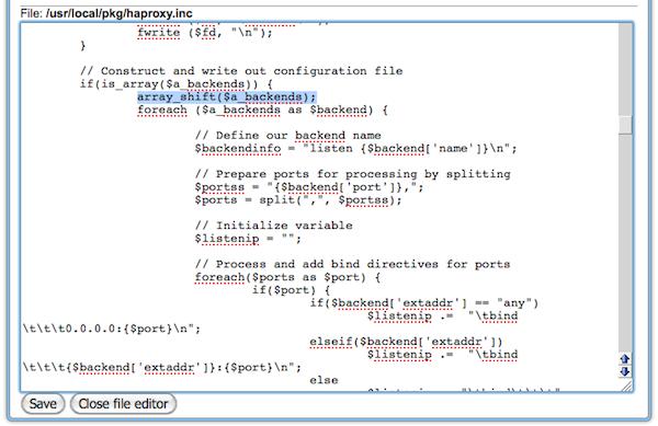 ctrl-alt-del cc: Fixing HAProxy configuration in pfSense