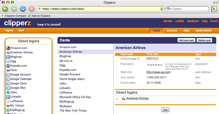Clipperz-Online-Password-Manager