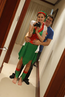 Kristy and Jesse - Elf Costume - Christmas 2012
