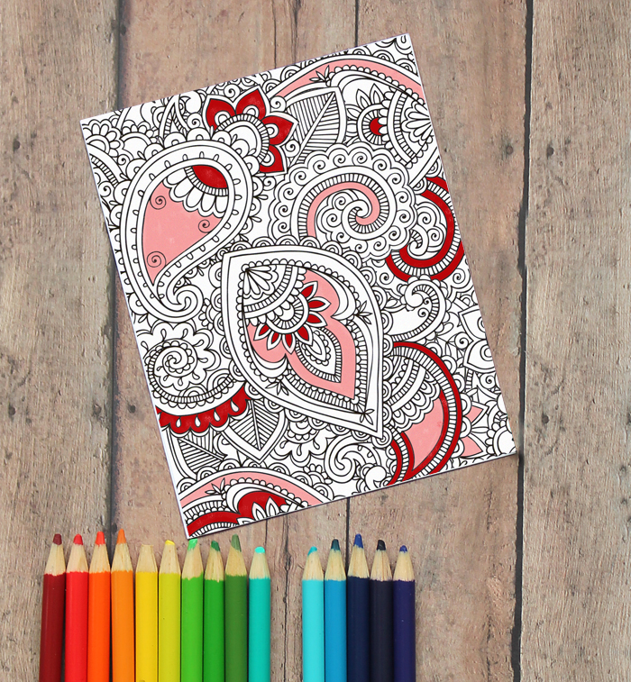 Adult Coloring Valentine\'s Day Cards (Free Printable!) - The ...
