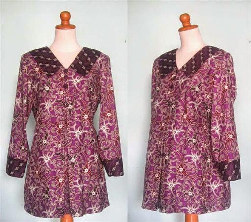 Baju Batik Modern Untuk Orang Tua: Contoh Baju Hamil Pesta Batik Modern Terbaru 2015