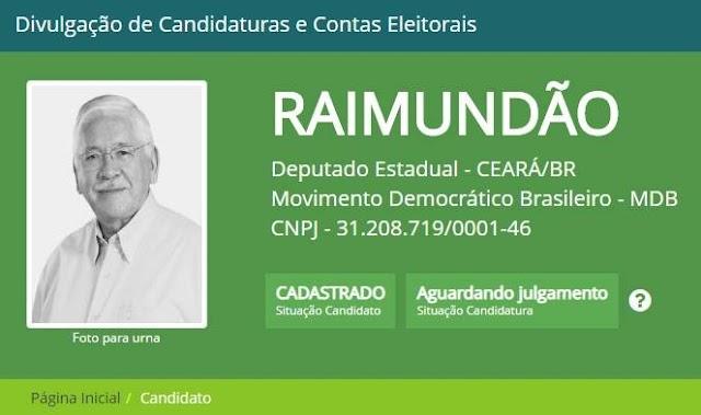 TRE nega candidatura do Raimundão, ex-prefeito de Juazeiro do Norte