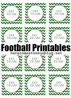 Football Party Circle free printable
