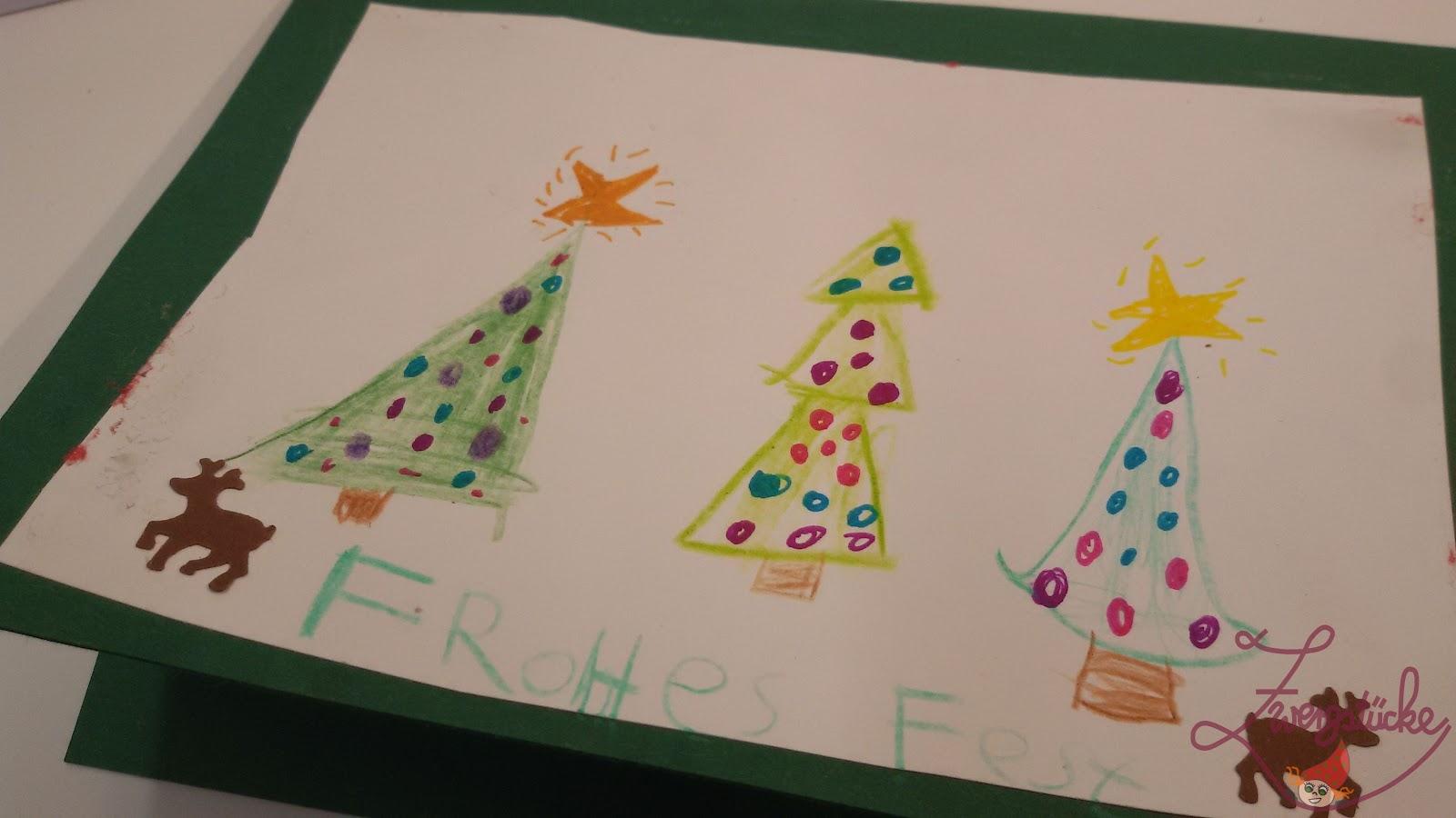 Weihnachtskarten Mit Bild Gestalten.Zwergstücke Basteln Weihnachtskarten Mit Kindern Gestalten