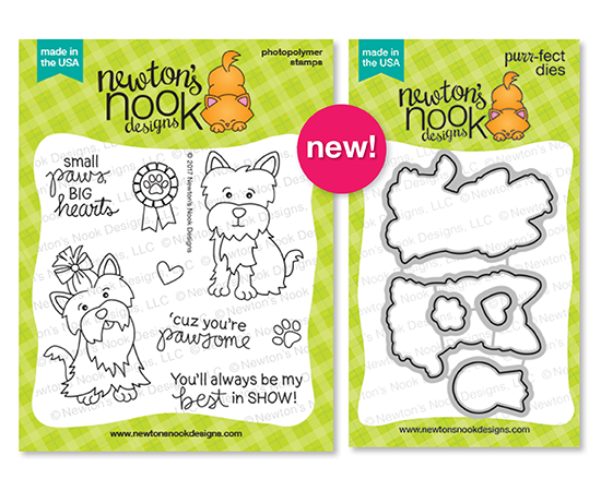 Terrific Terriers | Dog Stamp Set by Newton's Nook Designs #newtonsnook