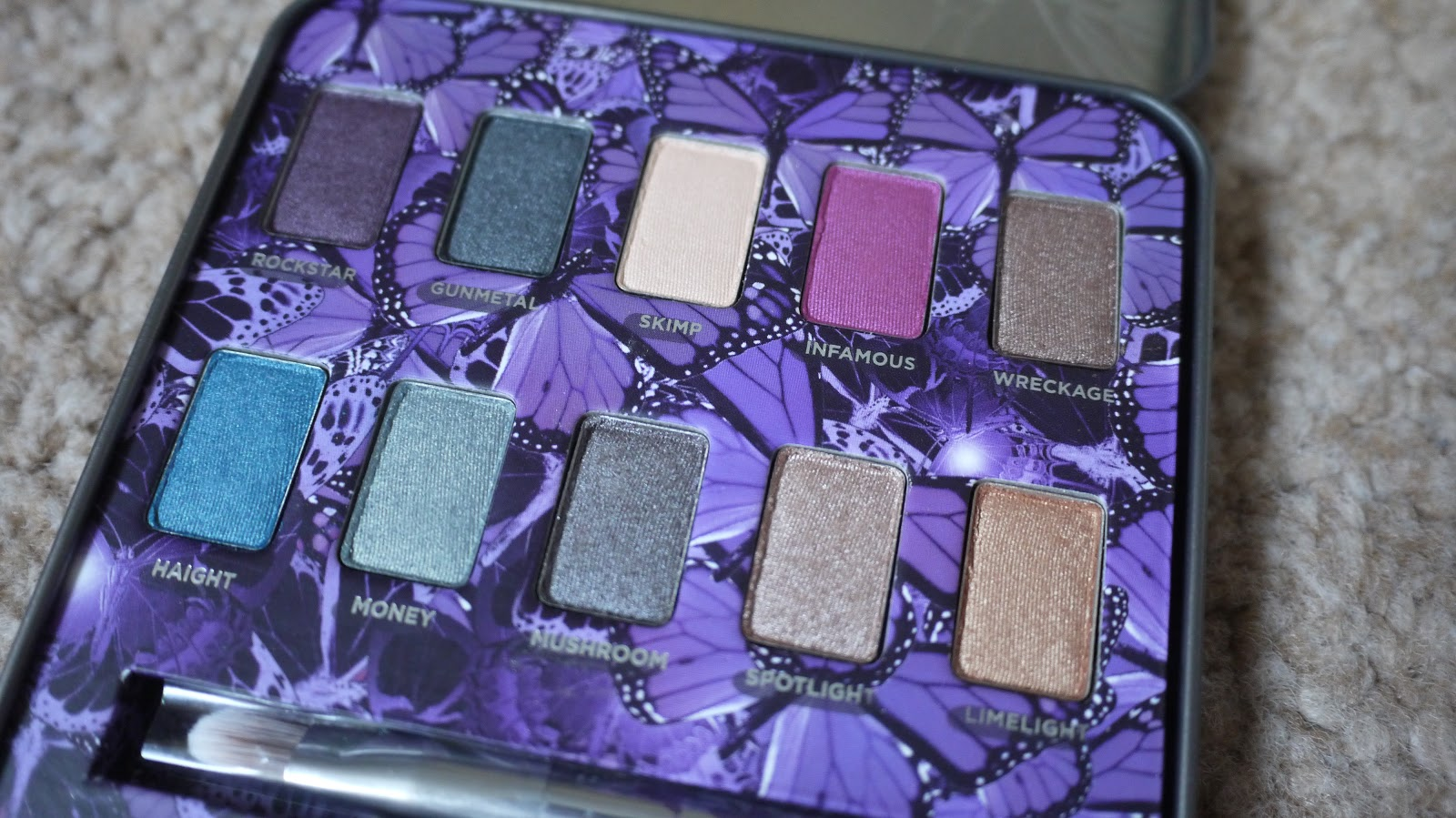 urban decay mariposa eyeshadow palette lux life london