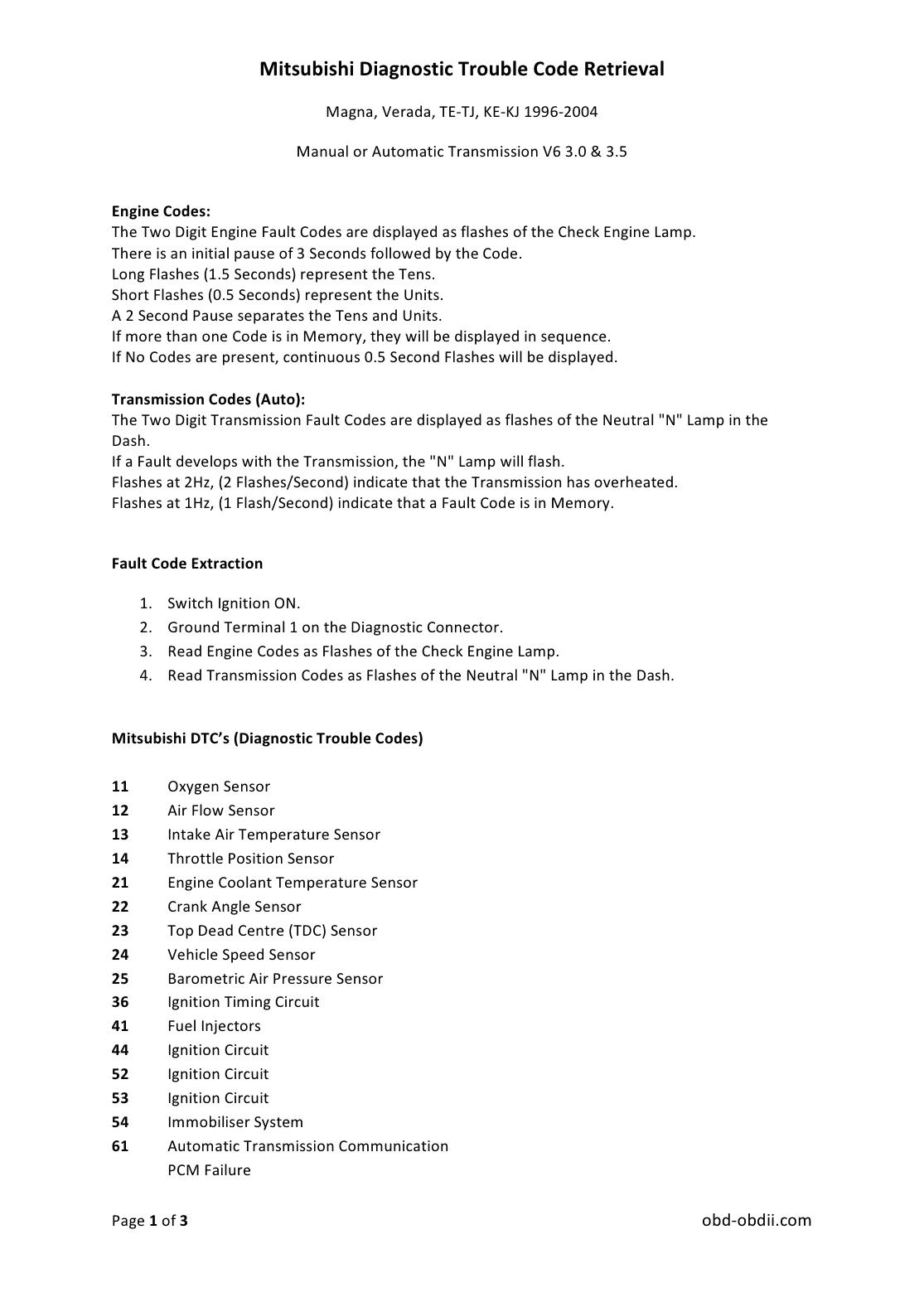 Mitsubishi Manuals: 2011