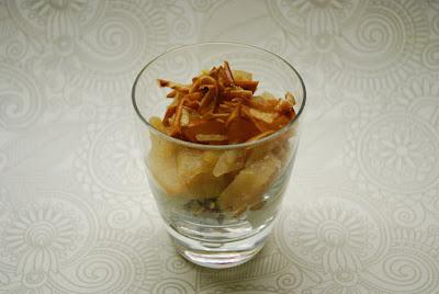 Dessert de gateau sec aux pommes