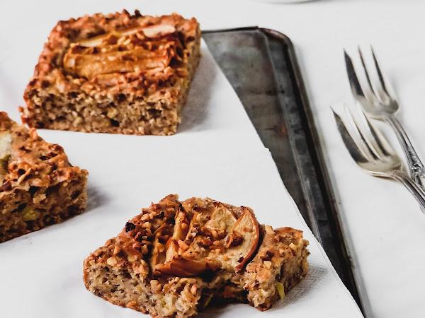 Veganer Apfel-Hafer-Blechkuchen