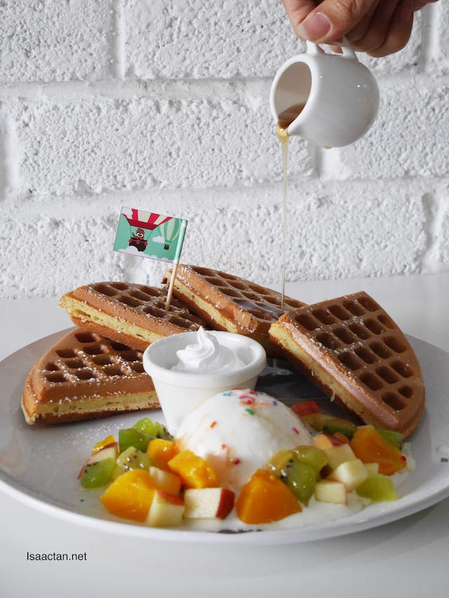 Mixed Fruits Waffle - A La Carte RM16.80, Classic RM21.80, Premier RM28.80